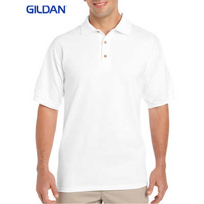 Gildan Ultra Cotton Adult Jersey Sport Shirt White 2800_WHITE_GILD